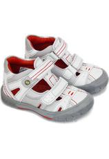 Sandalete piele Sunway Alb