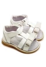 Sandale piele Eva Alb lac