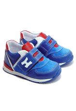 Hokide® Pantofi sport piele Albastru-Rosu